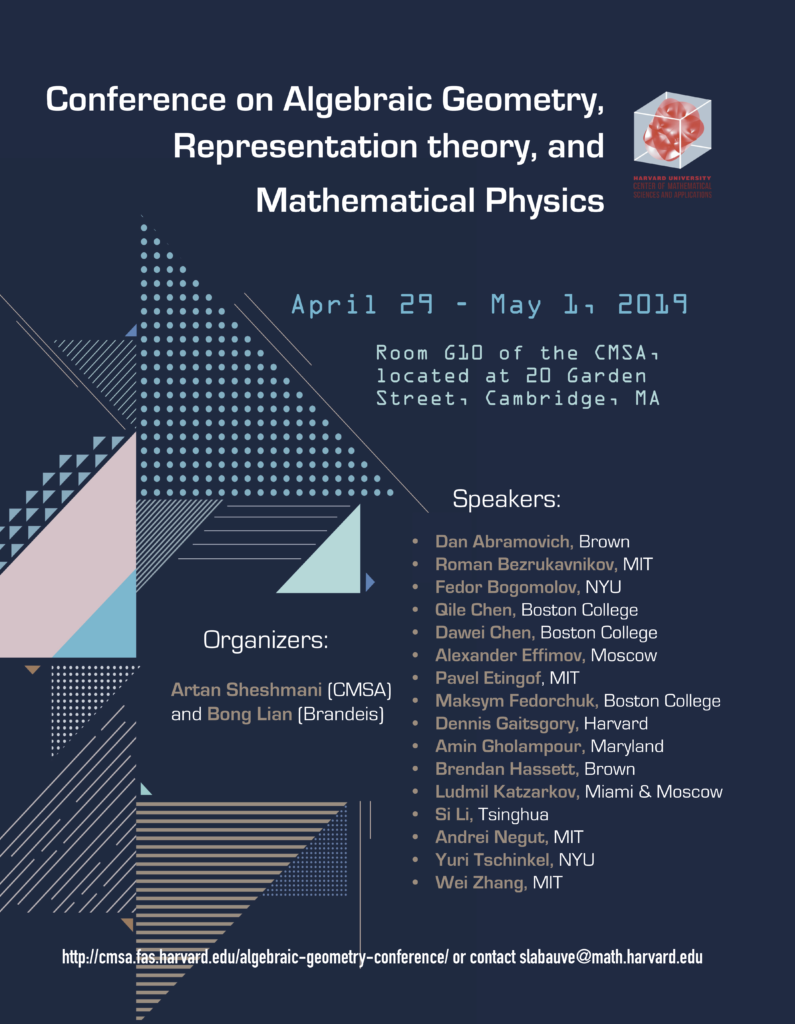Conference on Algebraic Geometry, Representation theory and