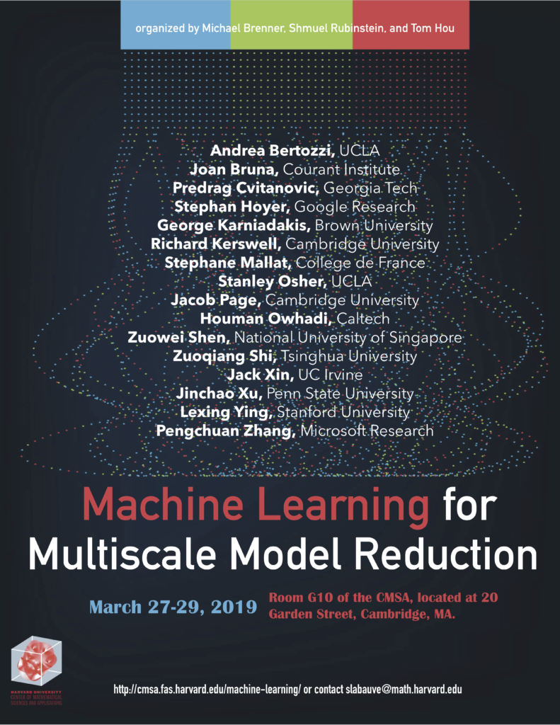 Machine Learning for Multiscale Model Reduction Workshop – CMSA